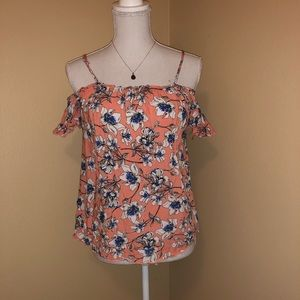 Charlotte Russe size small cold shoulder floral